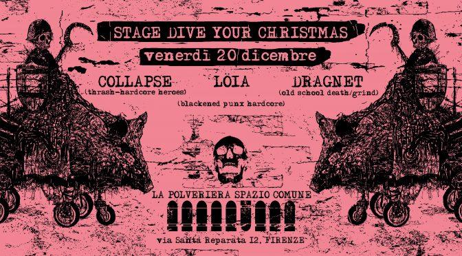 STAGE DIVE YOUR CHRISTMAS venerdì 20 dicembre