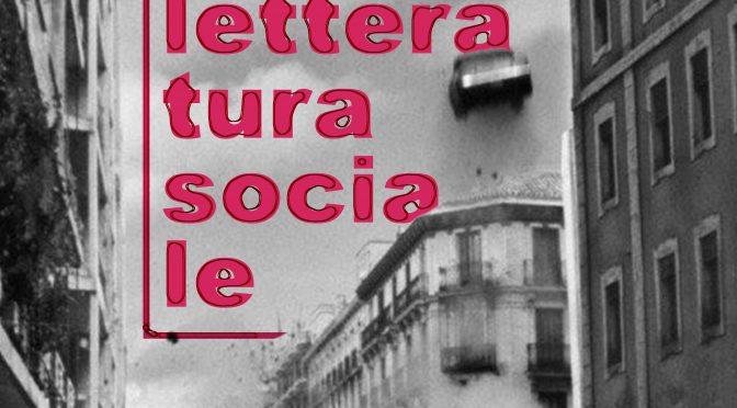 5° Festival di Letteratura Sociale 2-3-4 ottobre 2020