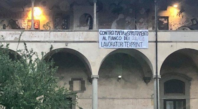 CONTRO MAFIA E SFRUTTAMENTO – 24/04 AL FIANCO DEI LAVORATORI TEXPRINT!
